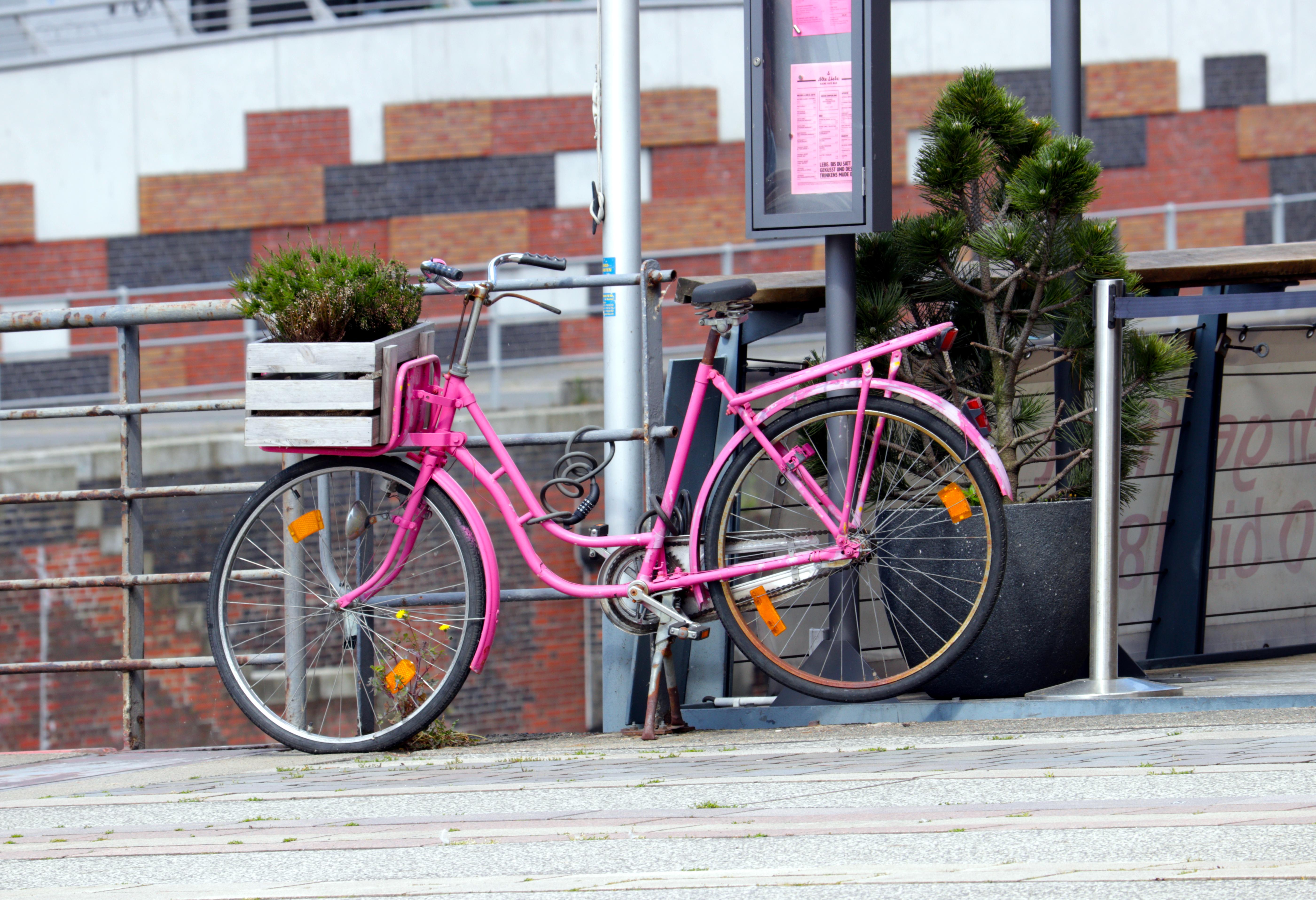 Pinkes Fahrrad