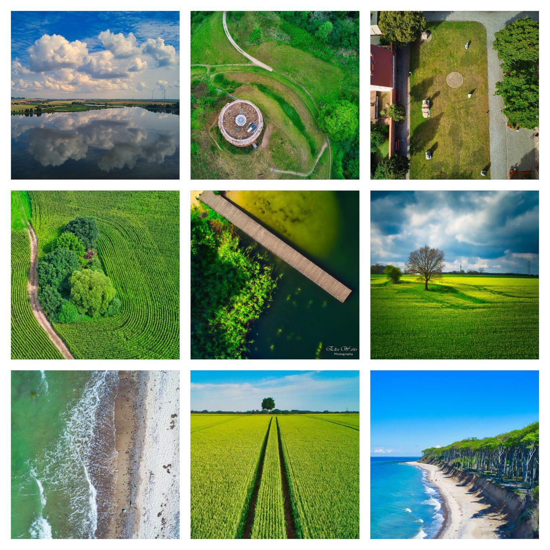 Collage Drohnenbilder