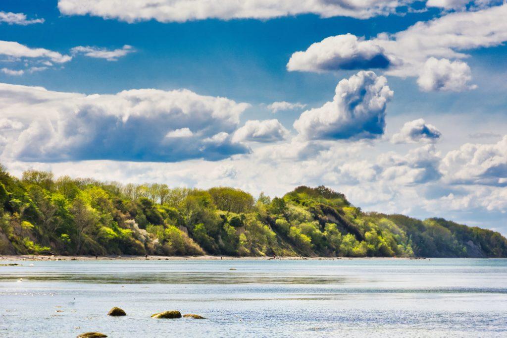 Blick auf die Steilküste - Steinbeck