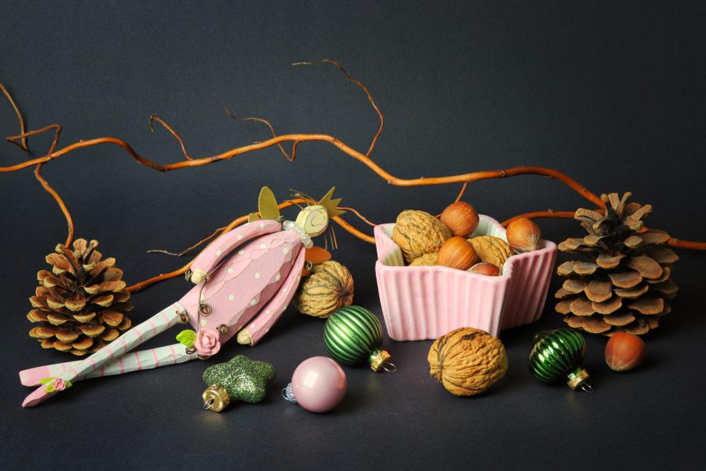 1. Advent Zapfen, Nüsse, Kugeln