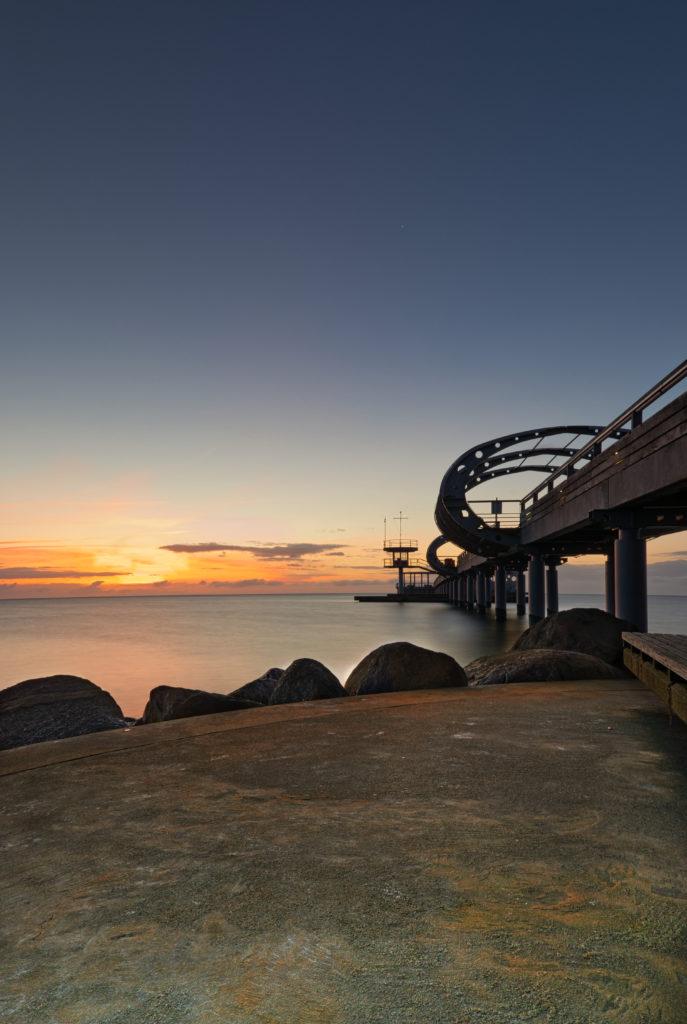 Sonnenaufgang Seebrücke Kellenhusen