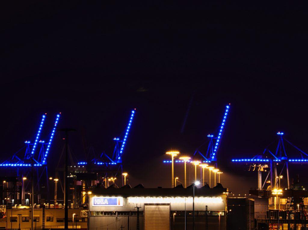 Krane im Hafen